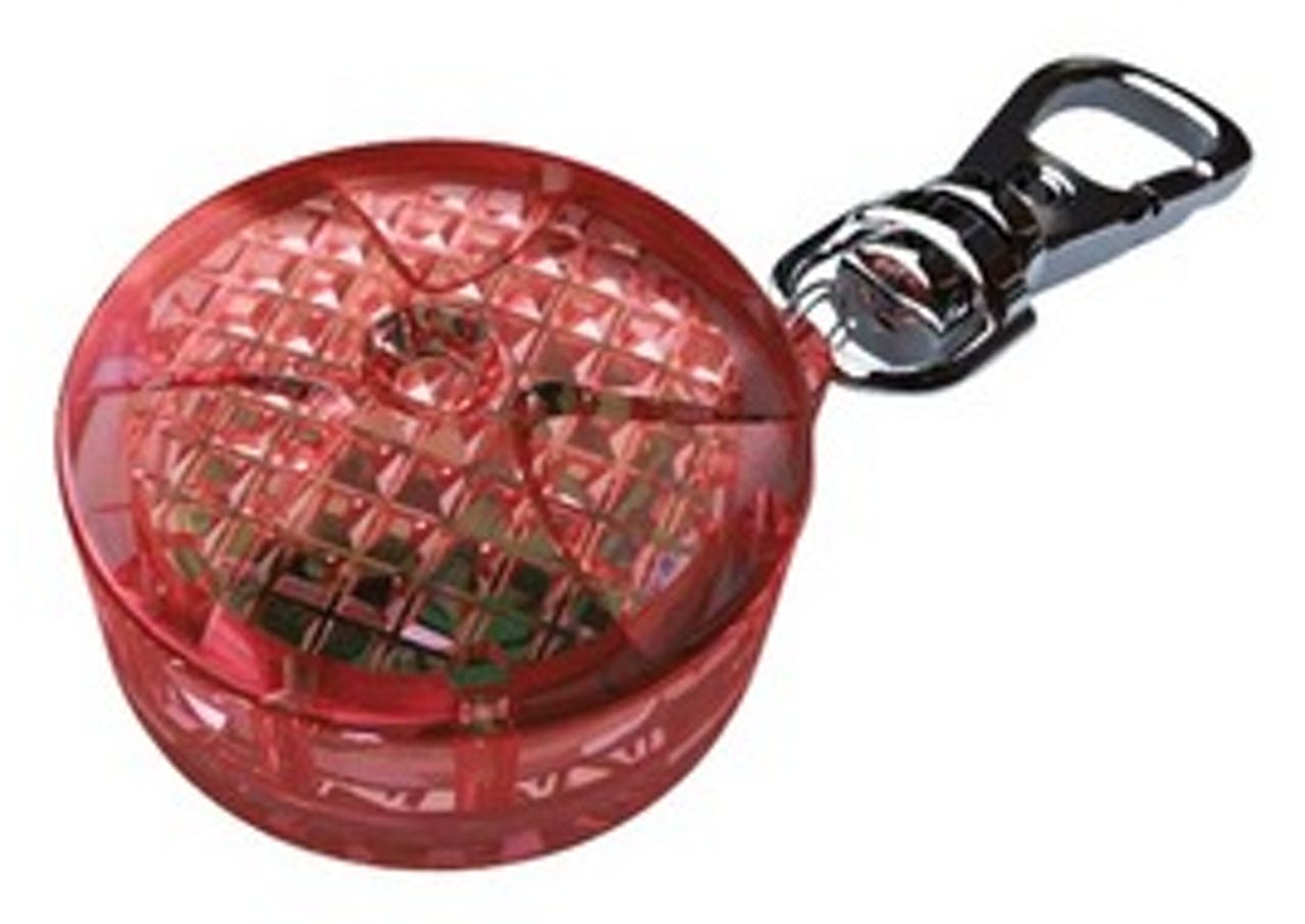 Safer Life Flasher for Dogs and Cats Red