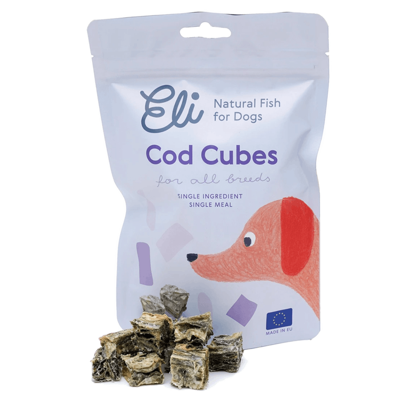 Eli - Natural Fish Treats for Dogs - Fish Cubes 80g