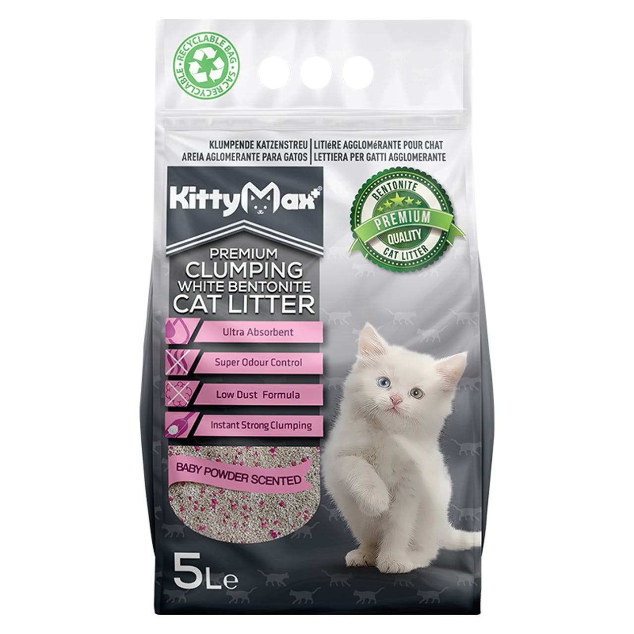 KittyMax - Clumping Cat Litter Baby Powder