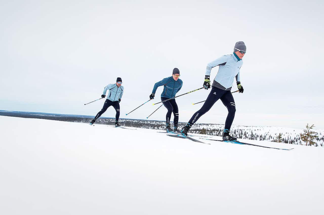 Skilangläufer Skaten