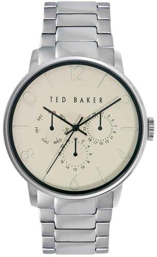 Cette montre TED BAKER se compose d'un Boîtier Rond de 42x47mm et d'un bracelet en Acier Marron
