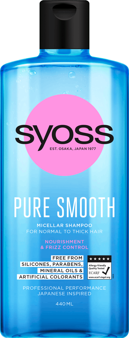 Syoss Pure Smooth Shampoo pack shot