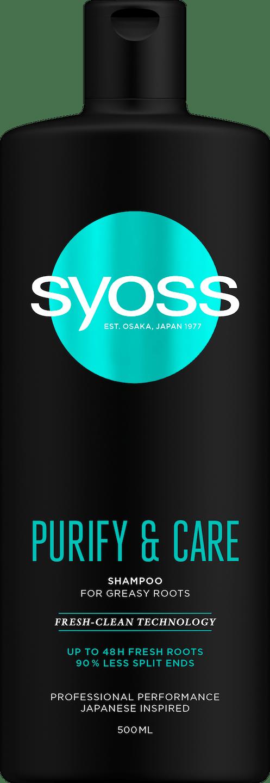 Syoss Purify & Care Shampoo pack shot