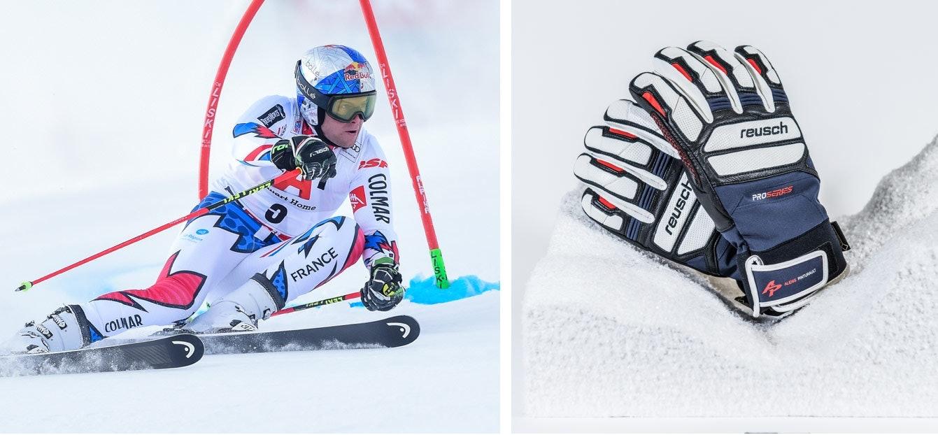 Signierte Skihandschuhe von Alexis Pinturault