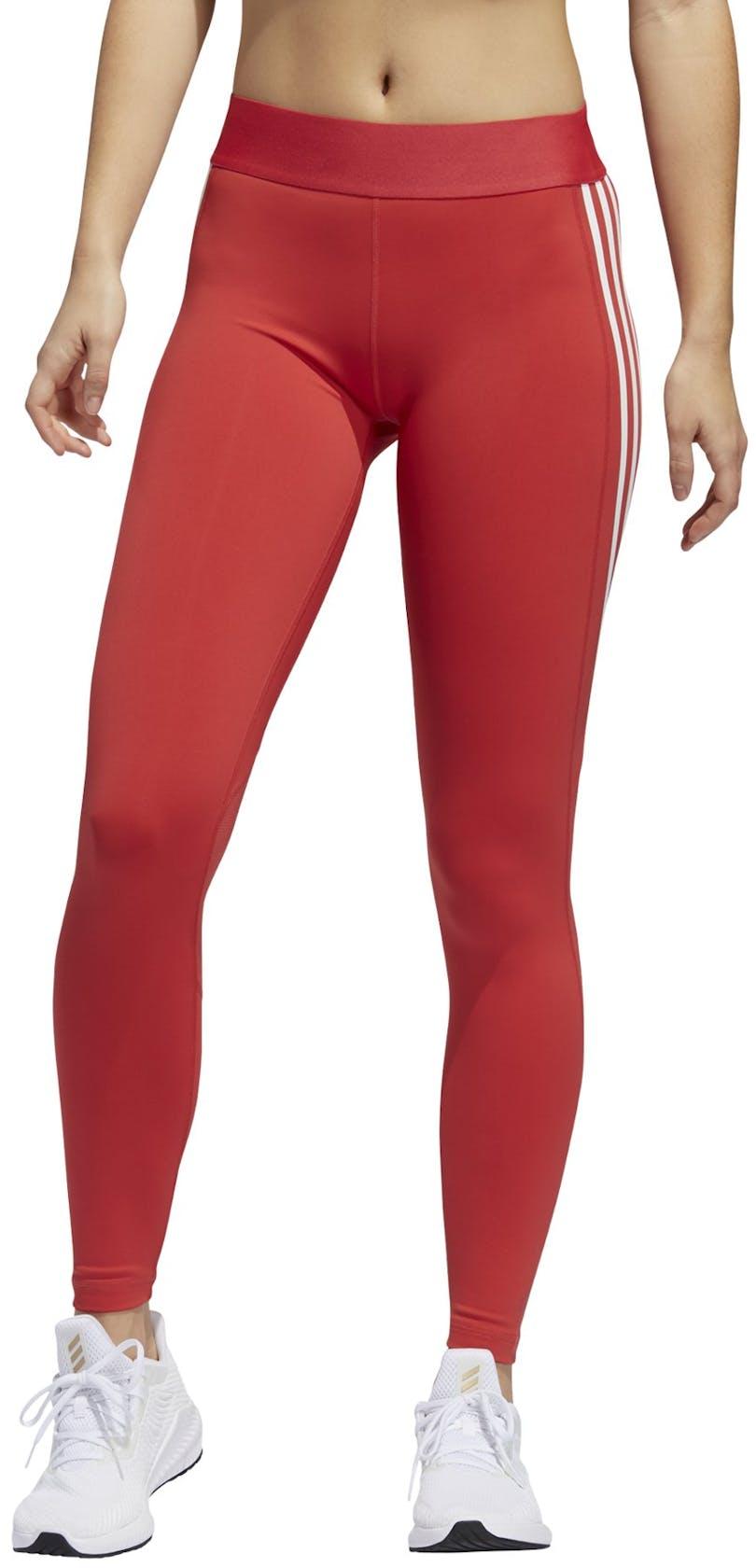 adidas Alphaskin Sport 3 Stripe - pantaloni fitness - donna