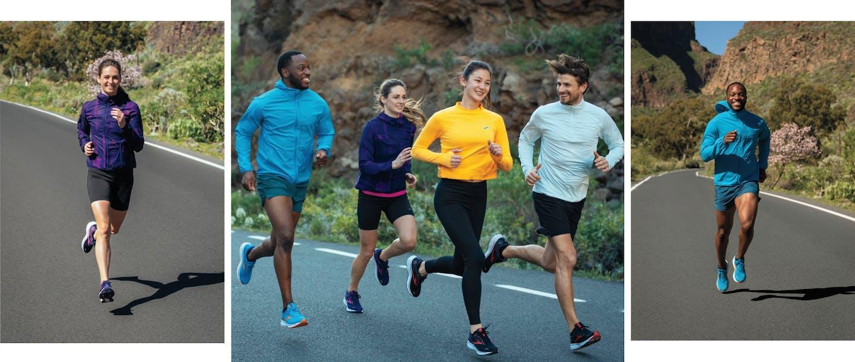 Collage di persone che corrono