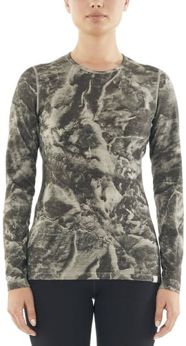 Icebreaker Natural Dye 200 Oasis Thermal LS Anniversary IB Glacier - maglietta funzionale a maniche lunghe - donna