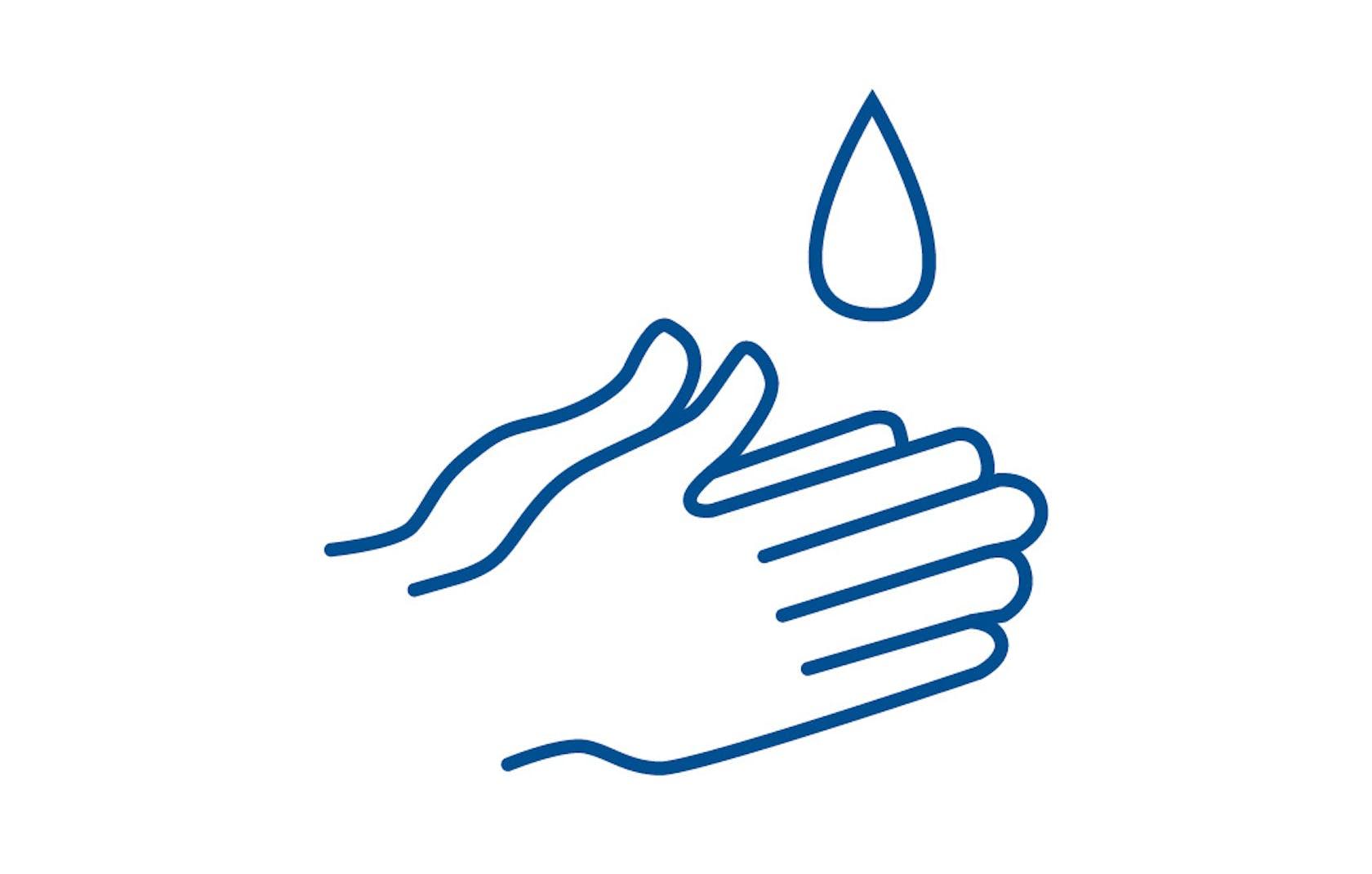 Desinfiziere dir regelmäßig deine Hände