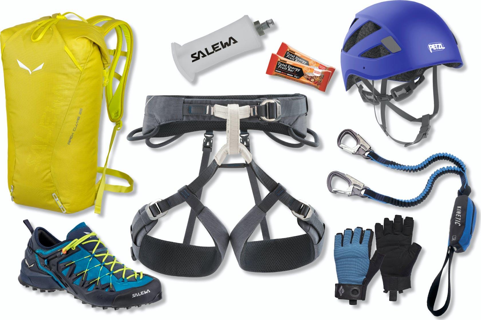 Klettersteig Sets und Ausrüstung