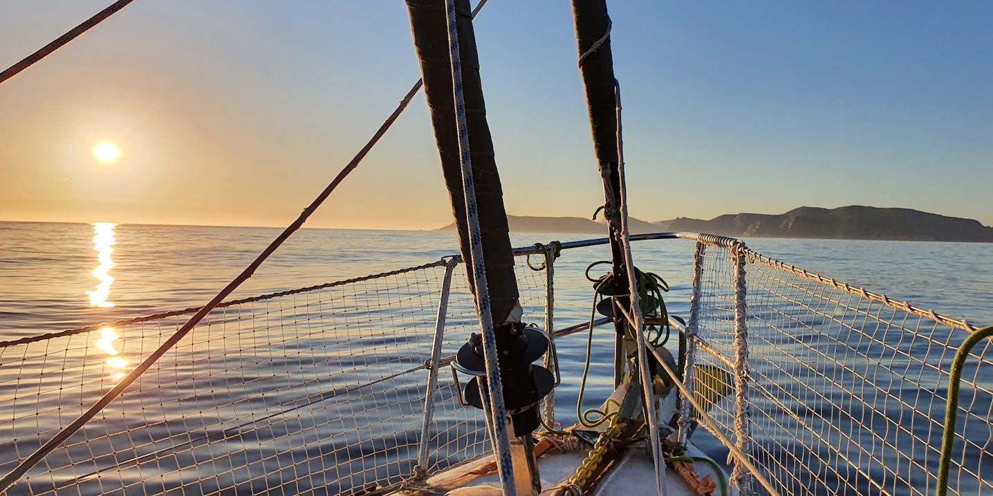 Foto da barca verso mare