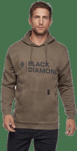 Black Diamond Stacked Logo Hoodie - felpa - uomo