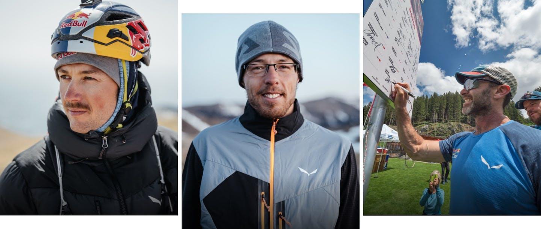 Gli atleti Salewa: Aaron Durogati, Markus Anders, Gavin McClurg