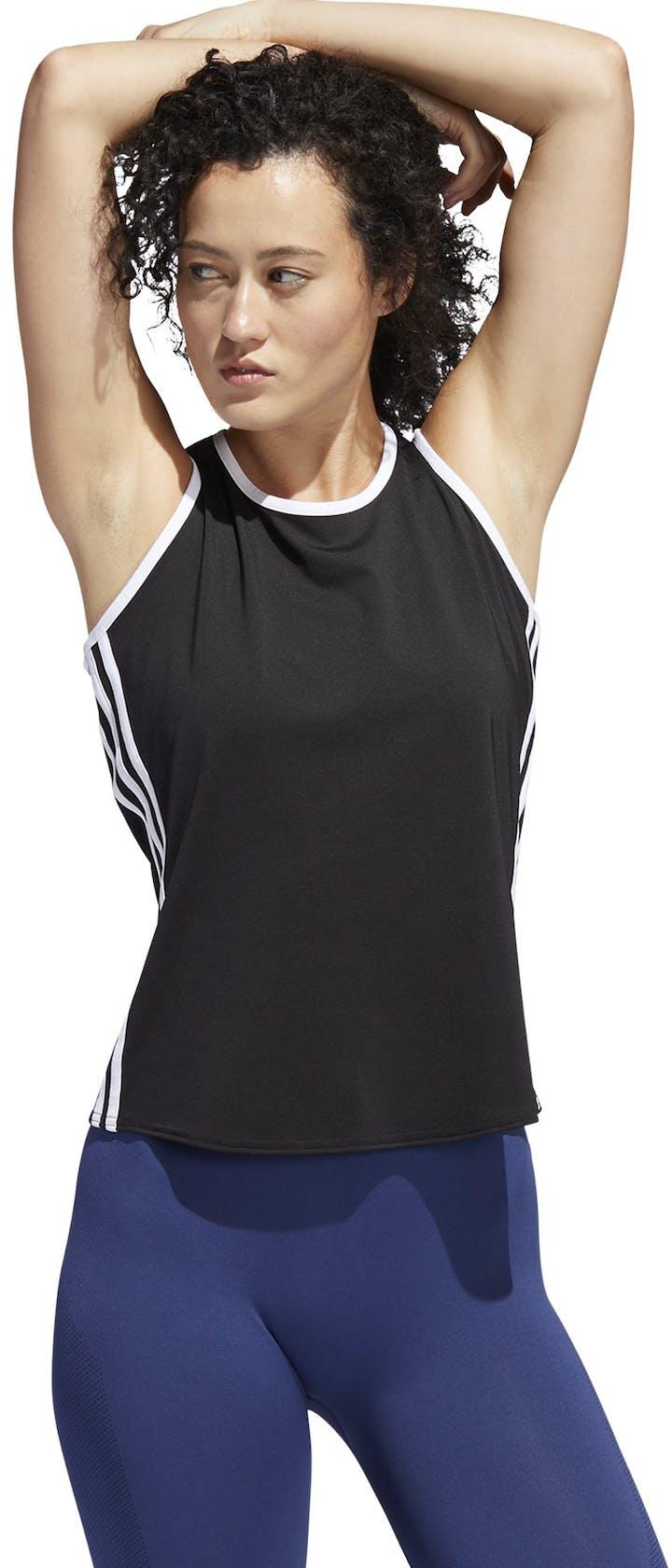 adidas 3 Stripe Scoop Tank - canotta fitness - donna