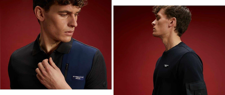 collage di foto di modelli con indosso North Sails
