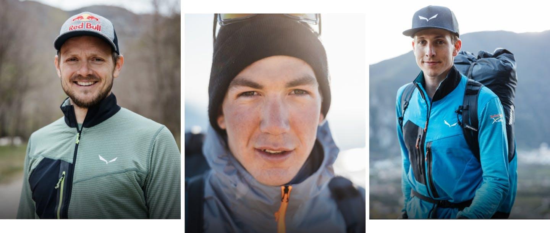 Gli atleti Salewa: Paul Guschlbauer, Thomas Friedrich, Simon Oberrauner