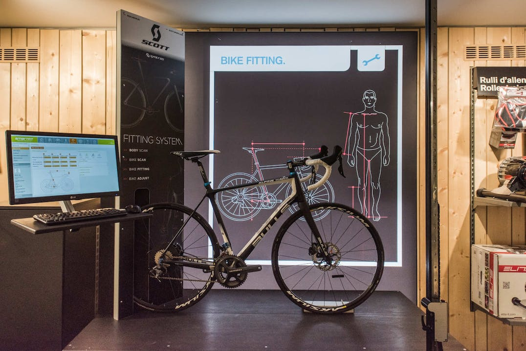 Sistema di bike fitting in uno SPORTLER store