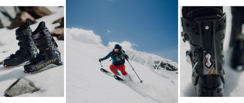 Collage scarpone scialpinismo La Sportiva Vega uomo