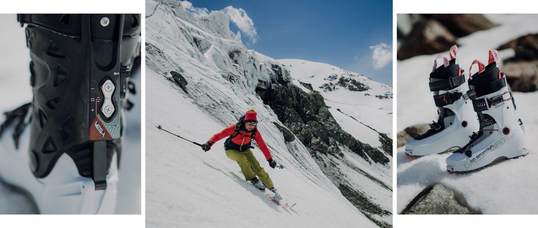 Collage scarpone scialpinismo La Sportiva Vega donna