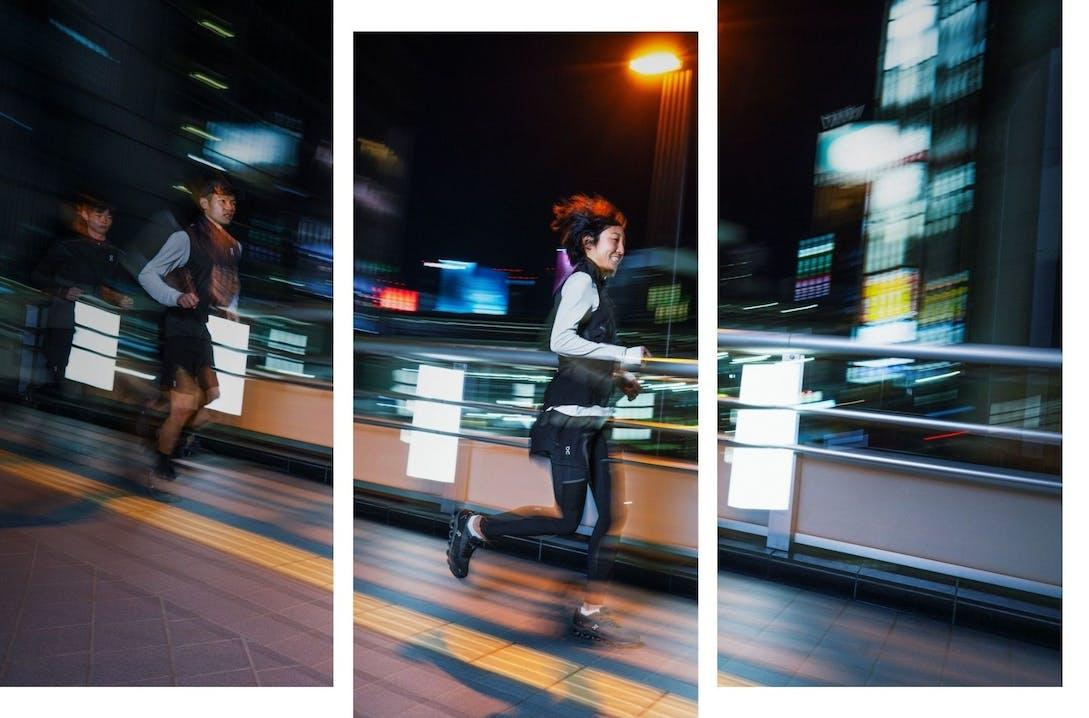 Ragazzi che corrono in ambiente urbano