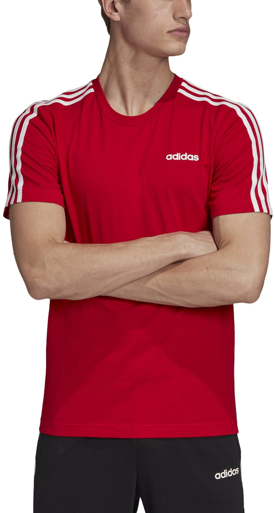 adidas Essentials 3 Stripes - t-shirt fitness - uomo