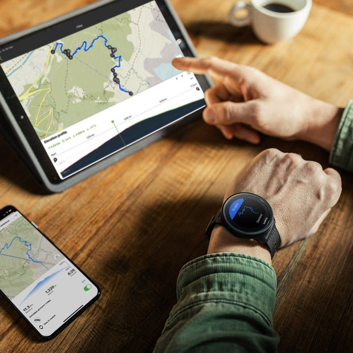 App Suunto su tablet con smartwatch