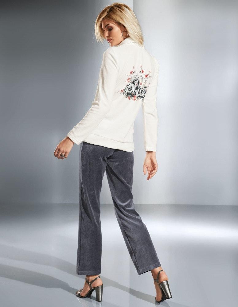 Nicki-Anzug mit Blütenprint