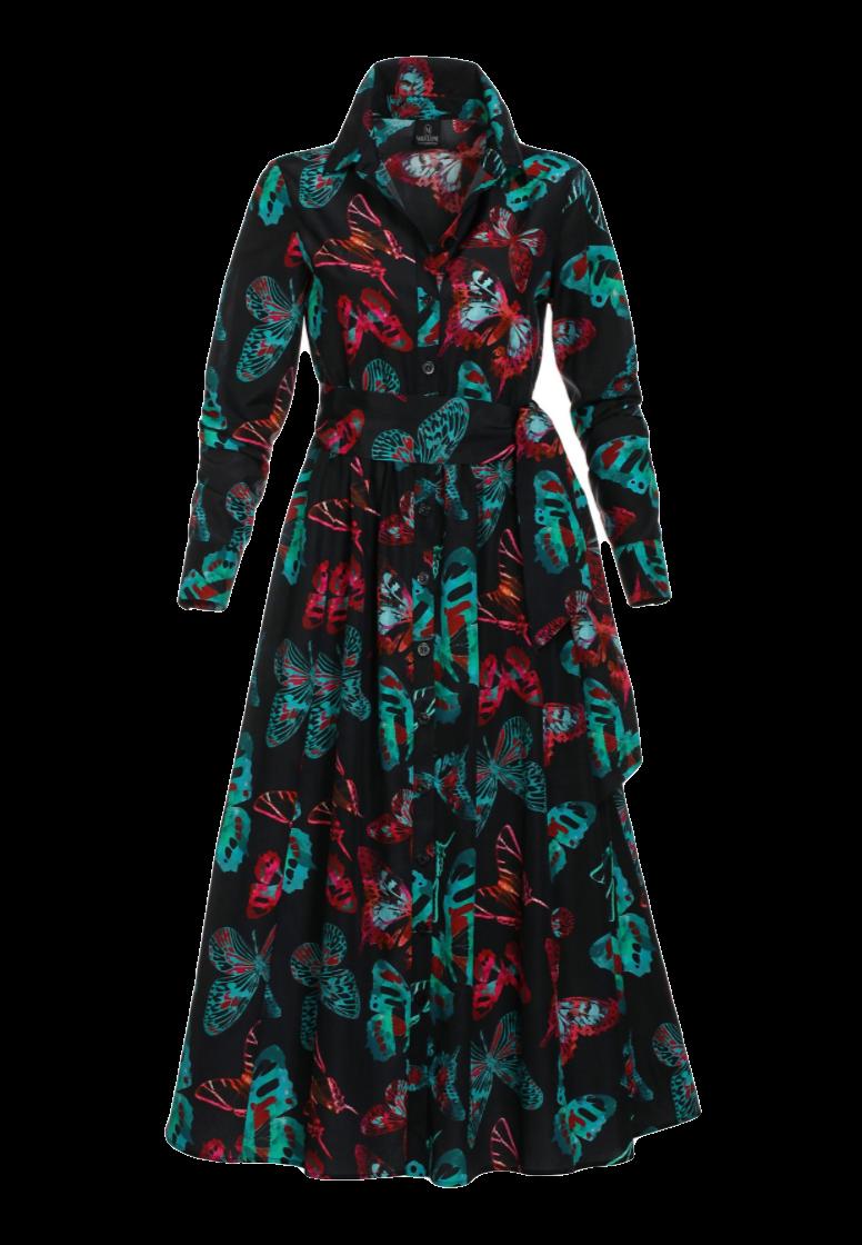 Hemdblusenkleid aus Seide & Baumwolle
