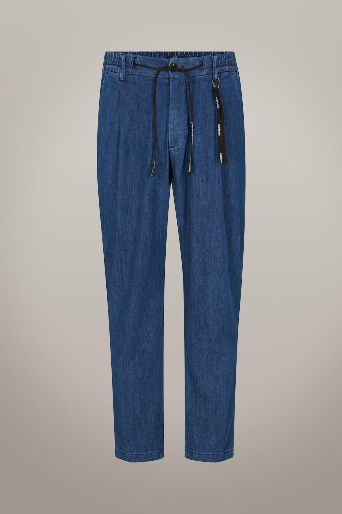 Pantalon de jogging style denim Bashy, bleu moyen