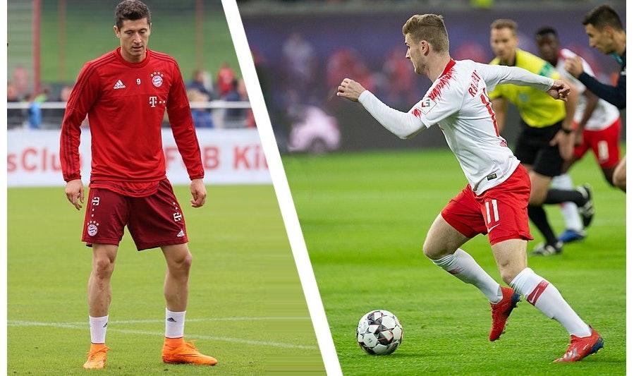 lewandowski vs. Werner DFB Pokal Finale