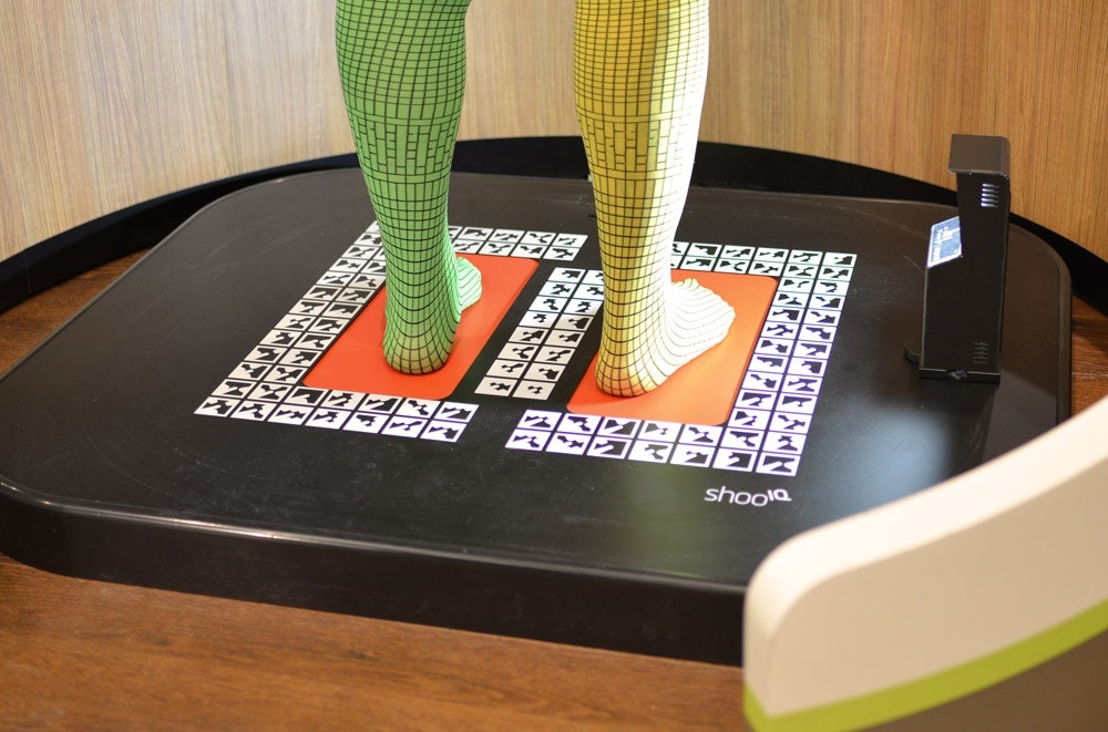 Auf dem neuesten technischen Stand - unsere Fuß-Scanner.