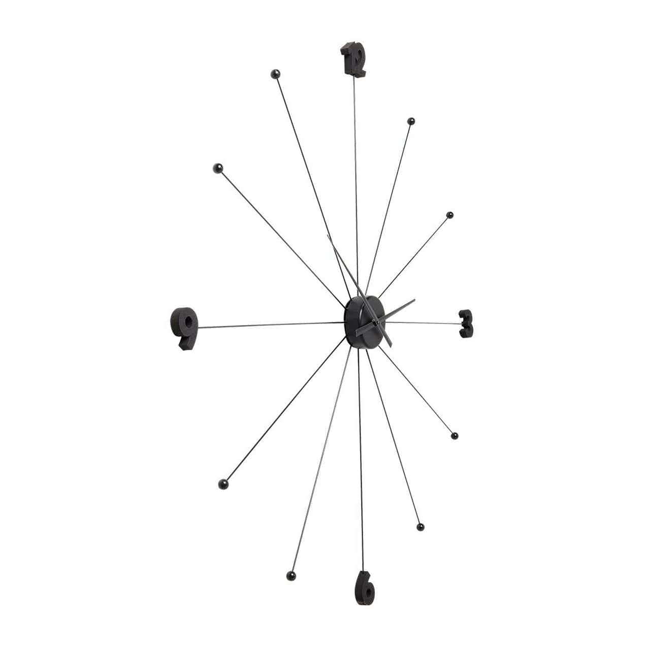 Kare Wanduhr Like Umbrella black