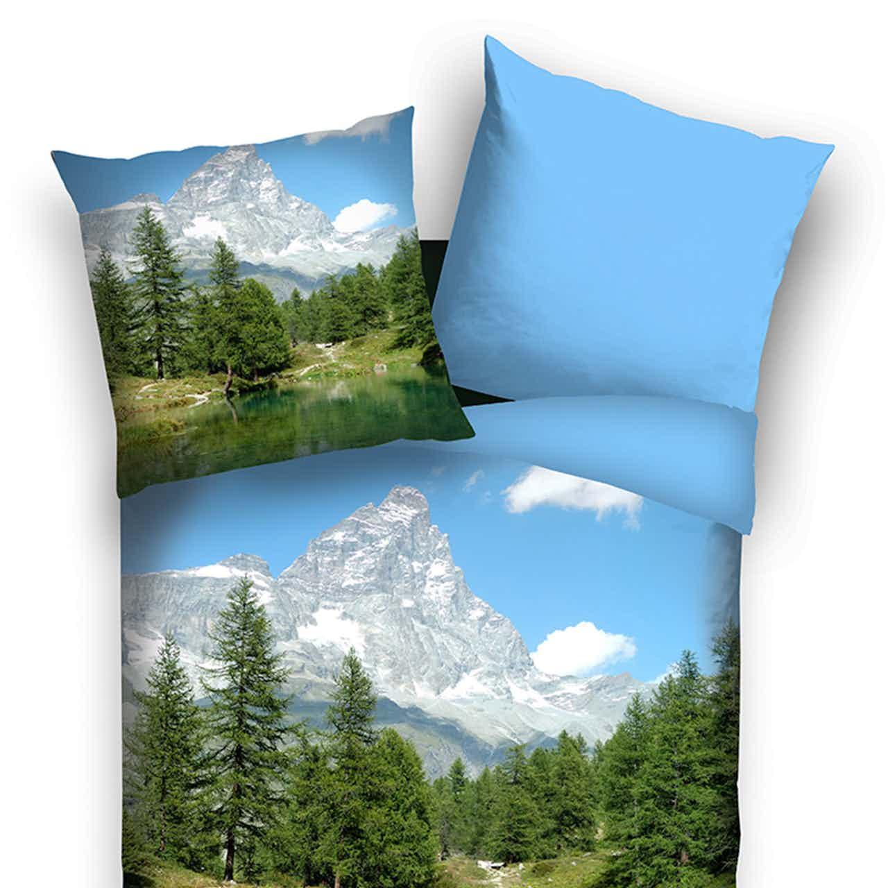Traumschlaf Wendebettwäsche Panorama Bergsee