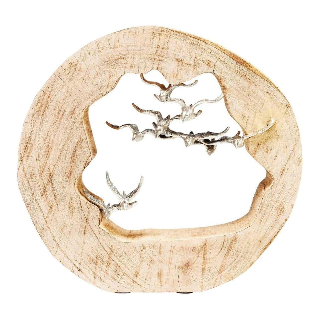 Kare Deko Objekt Birds In Log