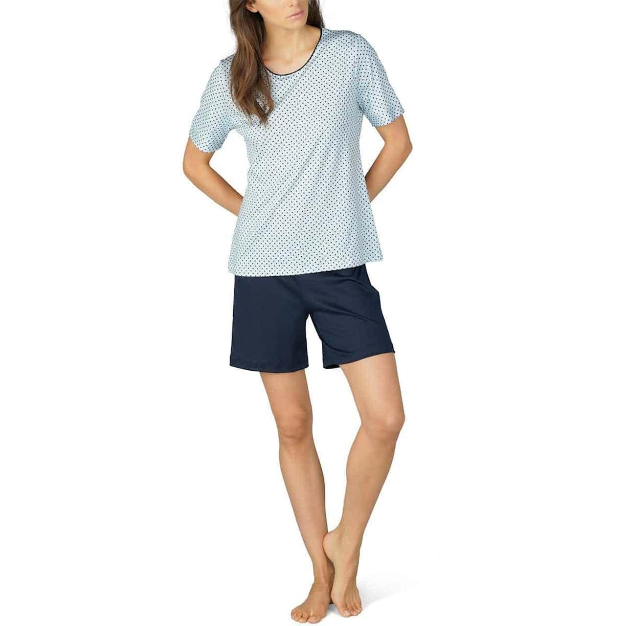 mey Damen Schlafanzug Sonja kurz night blue
