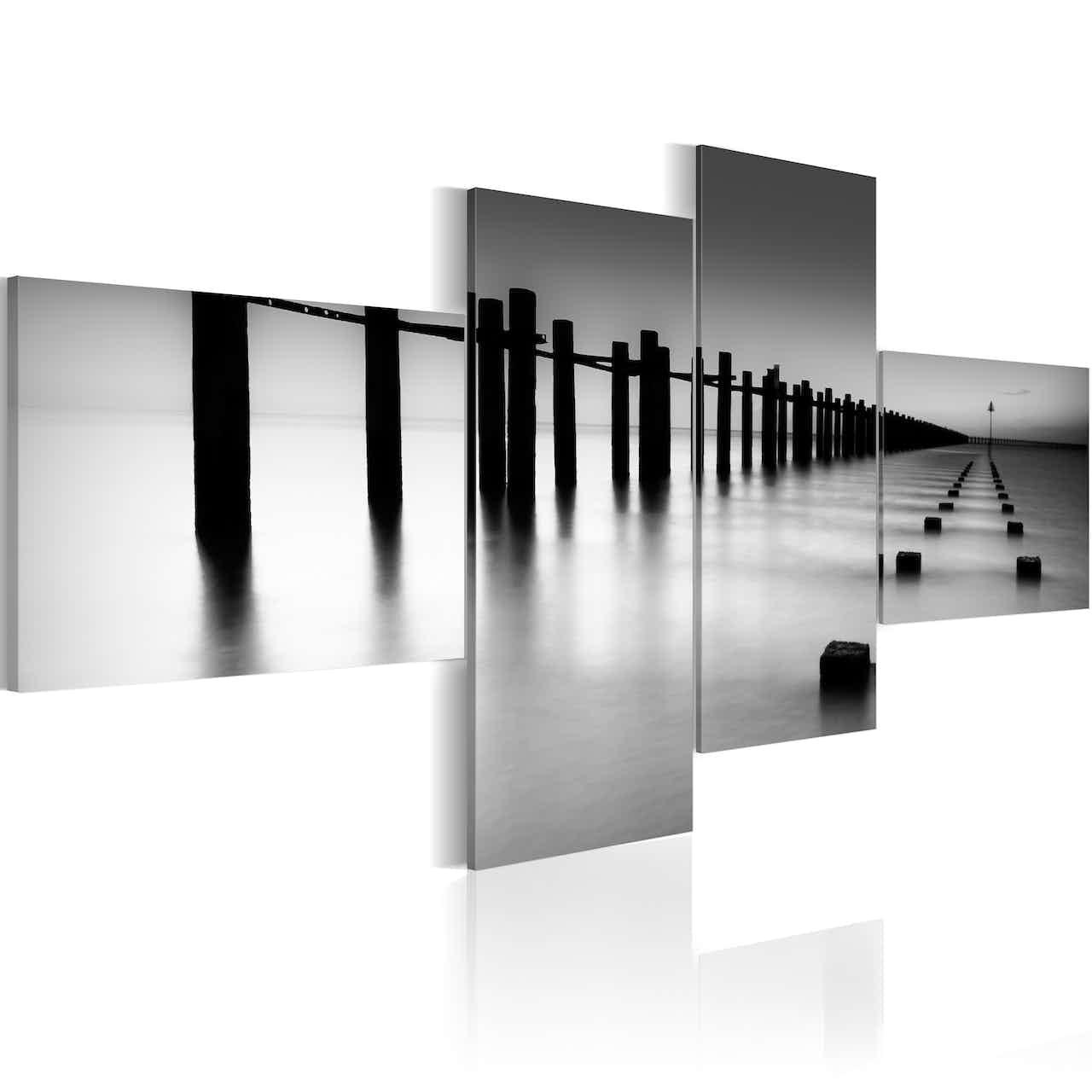 Wandbild - Meeresstrand im Spätherbst