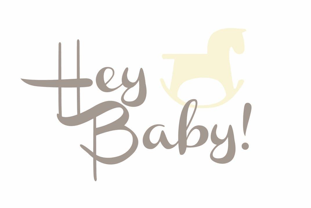 "Grußkarte ""Hey Baby"""
