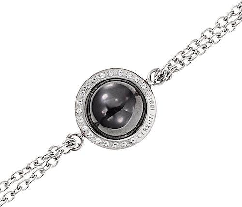 Bracelet CERRUTI 1881 Femme, Acier et Céramique Noire
