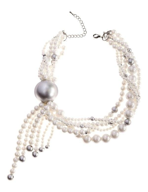 Mehrreihiges Perlen-Collier