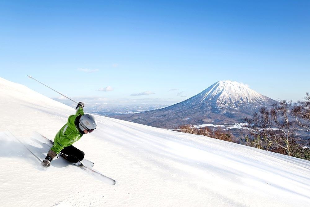 Skifahren in Niseko, Japan