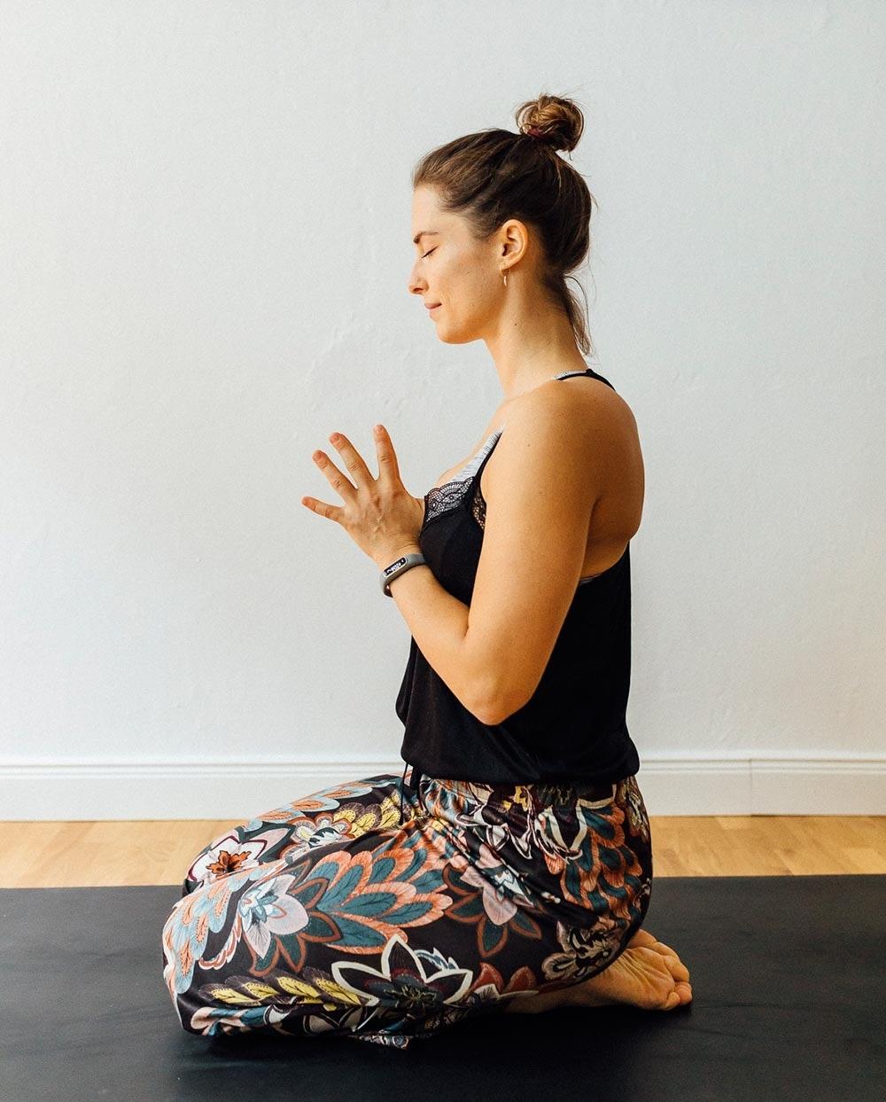Yoga vorm Schlafengehen