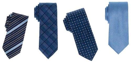 Blaue Krawatten in verschiedenen Dessins von ETERNA.