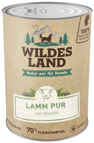 Wildes Land - Nassfutter - Lamm PUR mit Distelöl (getreidefrei)