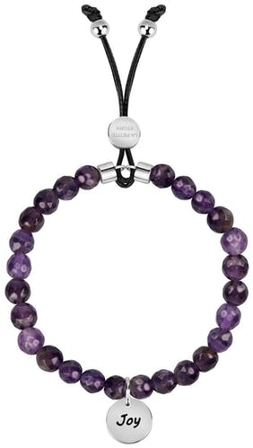 Bracelet LA PETITE STORY en Acier et Améthyste Violet