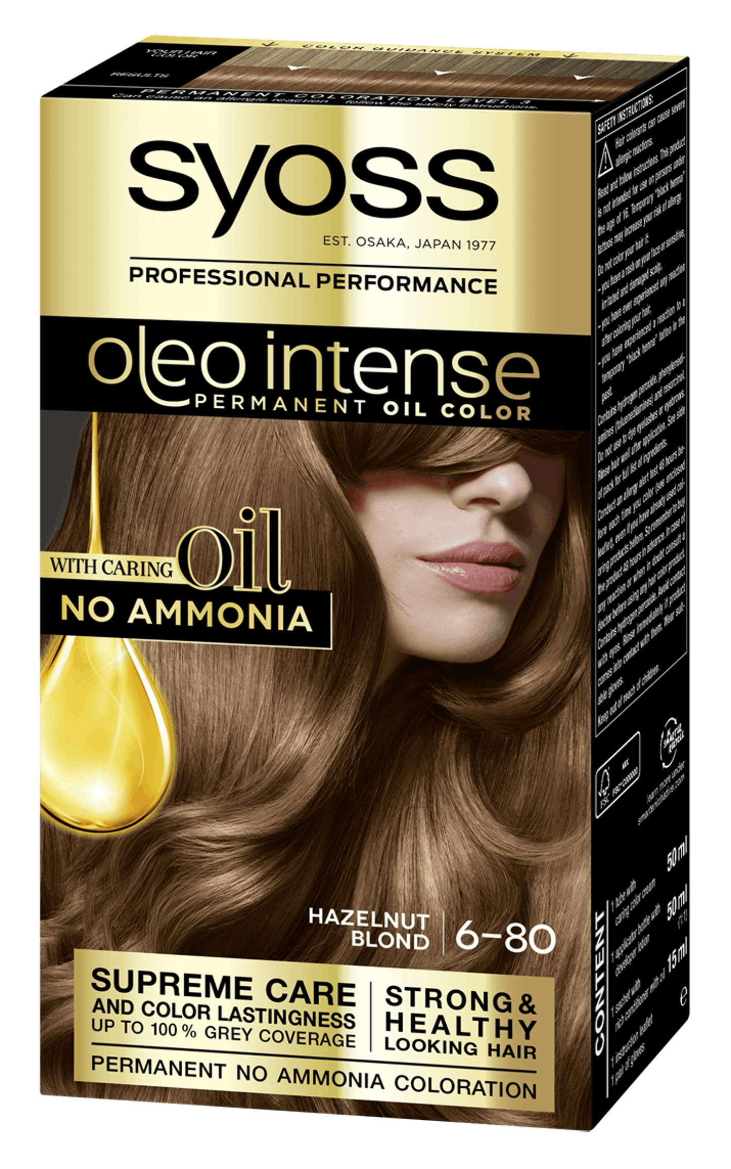Syoss Oleo Intense Permanent Oil Color 6-80 Hazelnut Blond
