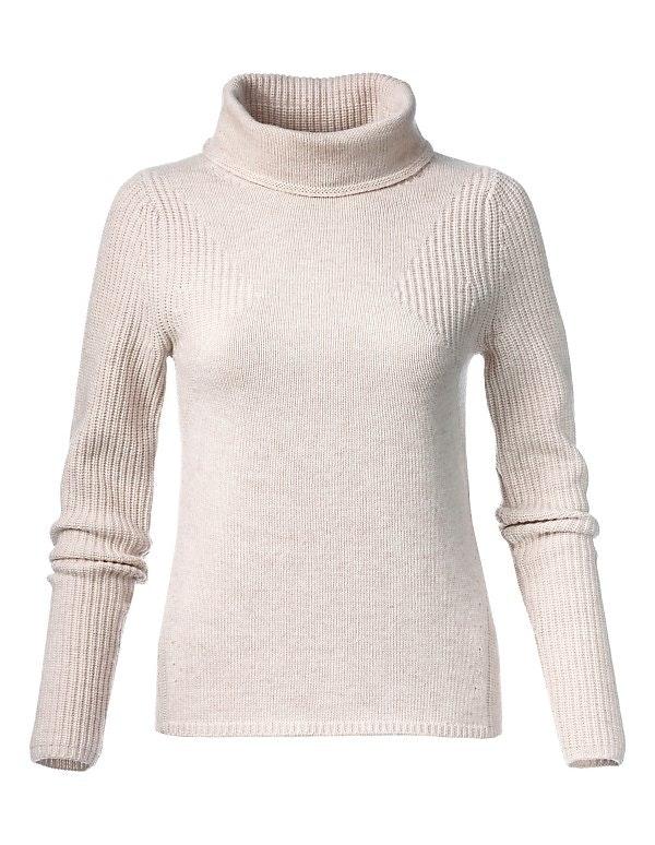 Boxy-Pullover mit halsfernem Rollkragen.