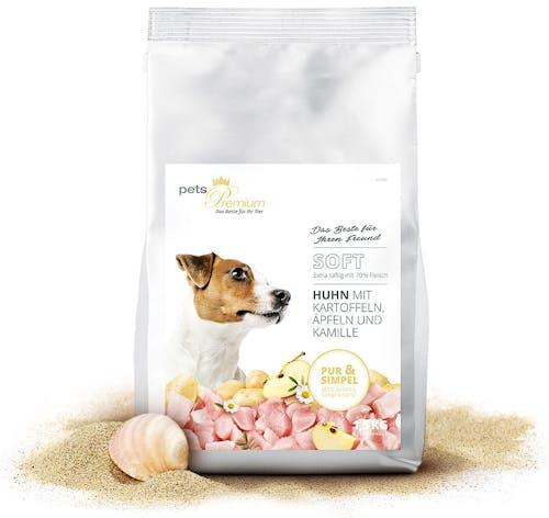 pets Premium Trockenfutter Soft Huhn mit Kartoffeln, Äpfeln und Kamille (getreidefrei)