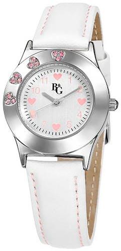 Cette montre B&G se compose d'un Boîtier Rond de 30 mm et d'un bracelet en Résine Blanche