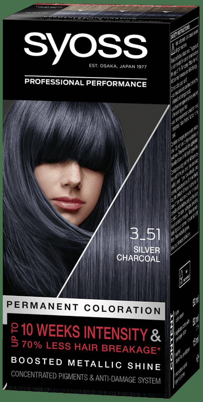 Syoss дълготрайна боя за коса Сребърен въглен 3_51 pack shot