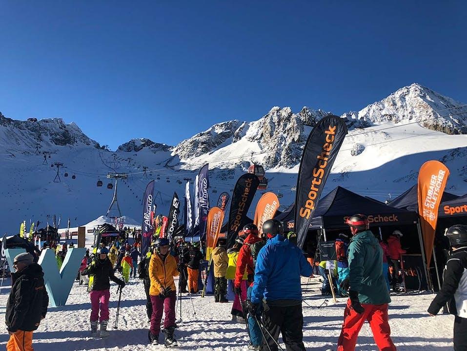 Kaiserwetter beim SportScheck Gletscher Testival