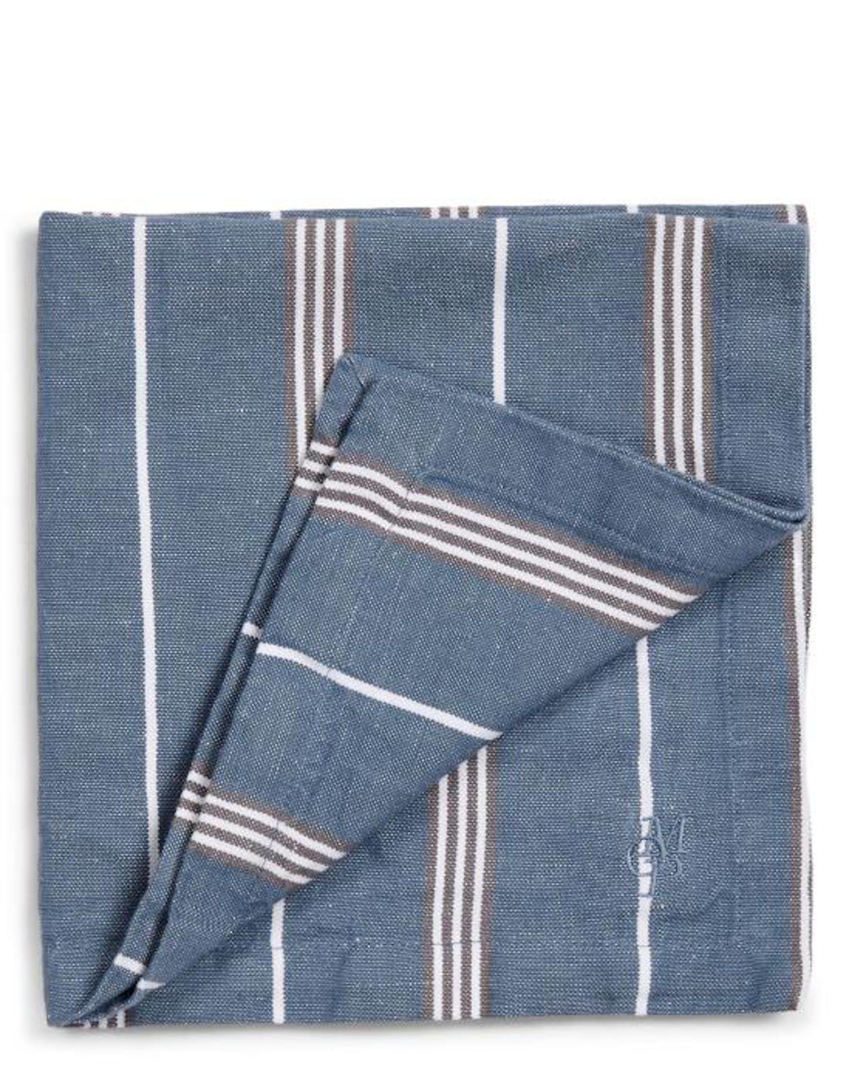 Marc O'Polo Jona Serviette Streifen Smoke Blue